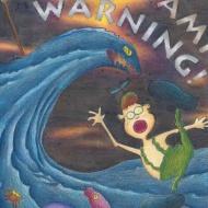 """ภาพวาดระบายสี เรื่อง """"การเตือนภัยคลื่นสึนามิ"""" ระดับมัธยมต้น"""